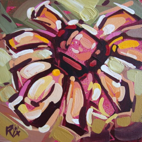 """""""Flower Abstraction 207"""" original fine art by Roger Akesson"""