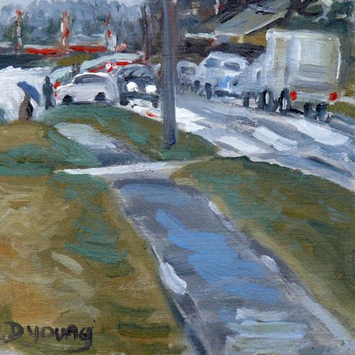 """Dallas Road"" original fine art by Darlene Young"