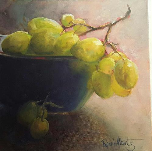 """JUICY GRAPES"" original fine art by Ronel Alberts"