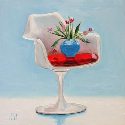"""hockney love"" original fine art by Kimberly Applegate"