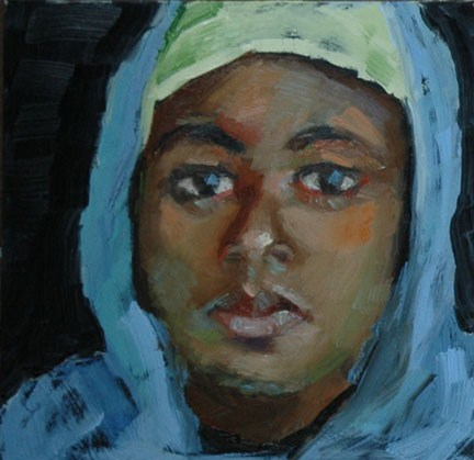 """WOMAN FROM ETHIOPIA"" original fine art by Linda Popple"