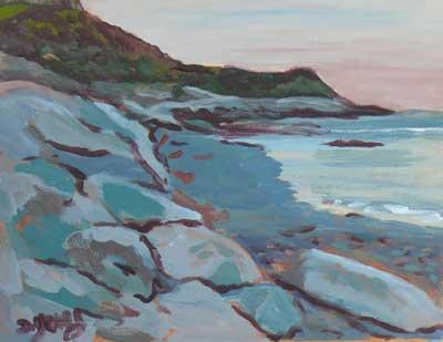 """Fonyo Beach"" original fine art by Darlene Young"