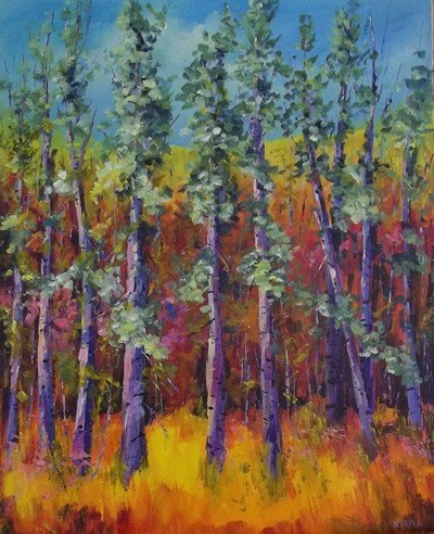 """Colorado Aspens #2"" original fine art by Alice Harpel"