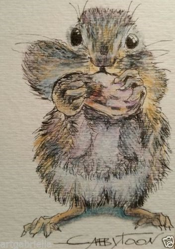 """Hamster"" original fine art by Gabriella DeLamater"