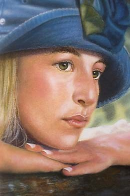 """Casual in Blue"" original fine art by Denise Henley"