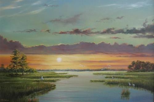 """Sunrise"" original fine art by Terri Nicholson"
