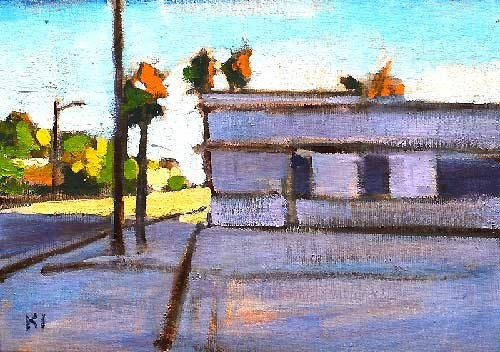 """Laundry Service"" original fine art by Kevin Inman"