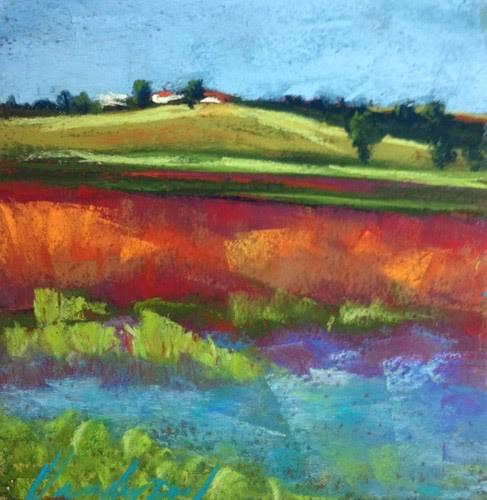 """""""Overlooking the Sanctuary"""" original fine art by Karen Vanderpool"""