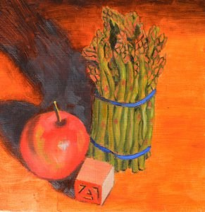 """""""A is for Apples...and Asparagus"""" original fine art by Robert Frankis"""