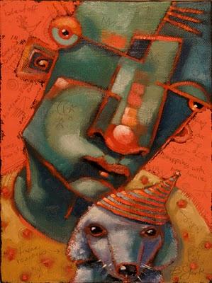 """Shopping With Louie"" original fine art by Brenda York"