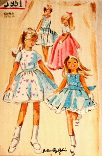 """Vintage Little Girls"" original fine art by JoAnne Perez Robinson"
