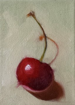 """""""Cherry and Shadow"""" original fine art by Cindy Haase"""