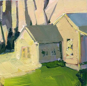"""#1019 Cottage Community"" original fine art by Lisa Daria"