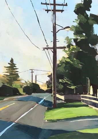 """Foothill Sunset"" original fine art by Sharon Schock"