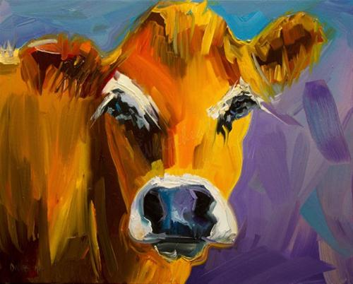 """COW ANIMAL ART FARM CATTLE DIANE WHITEHEAD FINE ART"" original fine art by Diane Whitehead"