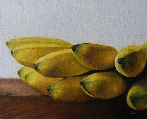"""""""Lady Finger Bananas"""" original fine art by Jonathan Aller"""