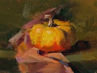 """Harvest Season"" original fine art by Qiang Huang"