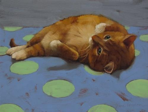 """Loafing II"" original fine art by Diane Hoeptner"