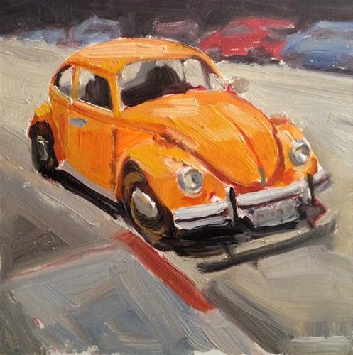 """Parking in the Mission"" original fine art by Deborah Newman"