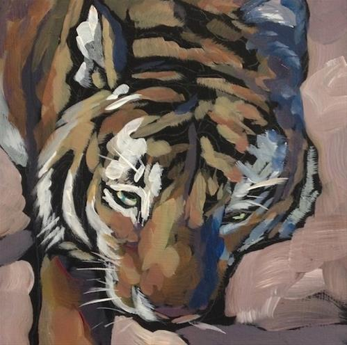 """Tyger, Tyger"" original fine art by Kat Corrigan"