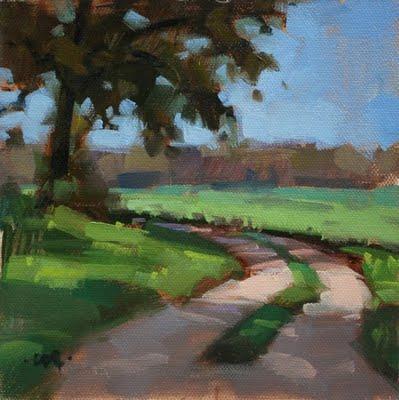 """Round the Bend & Apple Harmony"" original fine art by Carol Marine"