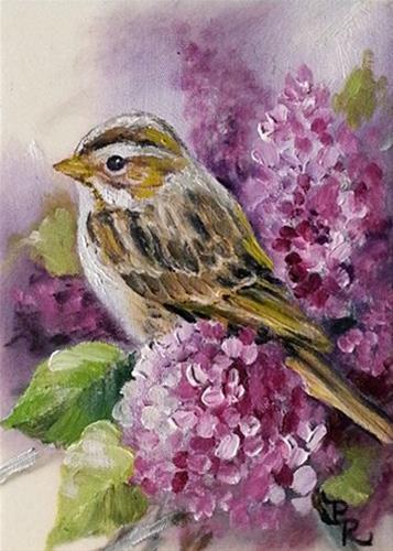 """Grandma's Lilacs"" original fine art by Paulie Rollins"