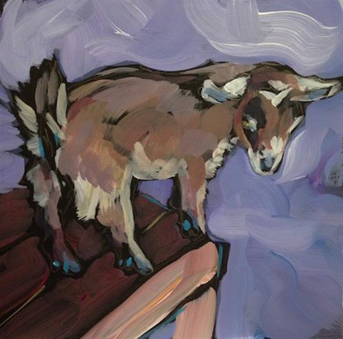 """Tabled Kid"" original fine art by Kat Corrigan"