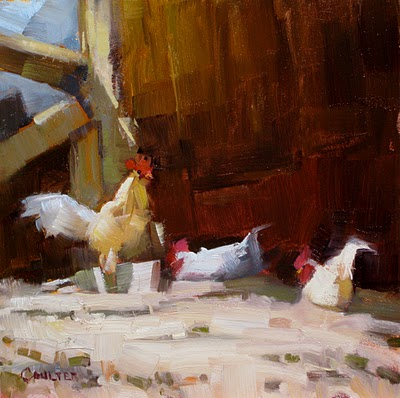 """""""GHOST CHICKENS"""" original fine art by James Coulter"""