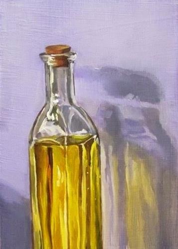 """""""24 - Yellow Bottle"""" original fine art by Ed Watson"""