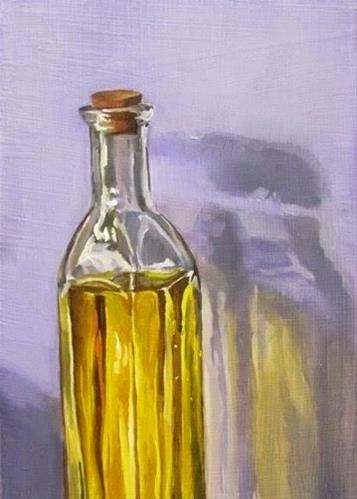 """24 - Yellow Bottle"" original fine art by Edward Watson"