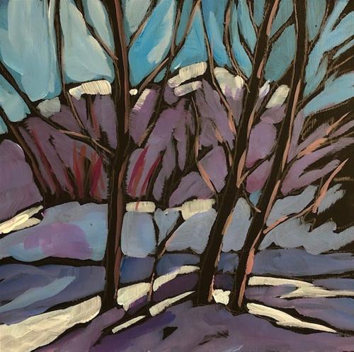 """Snow Rhythm, Wolf Ridge"" original fine art by Kat Corrigan"