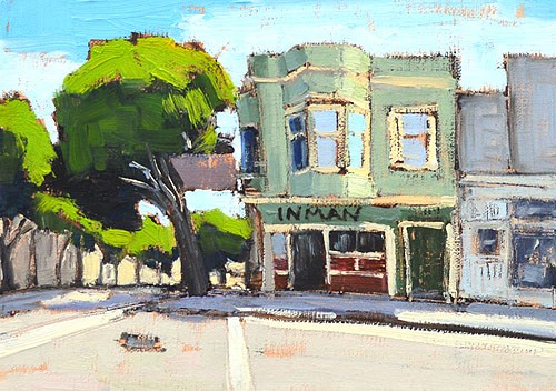 """""""Tales of the City Walking Tour"""" original fine art by Kevin Inman"""