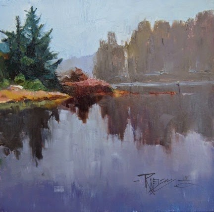 """""""Eagle Harbor  plein air landscape painting by Robin Weiss"""" original fine art by Robin Weiss"""