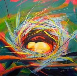 """""""Nest of Prosperity 7"""" original fine art by Pam Van Londen"""