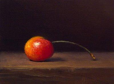 """Rainier Cherry No. 3"" original fine art by Abbey Ryan"
