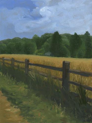 """Farm Borders"" original fine art by Nancy Herman"