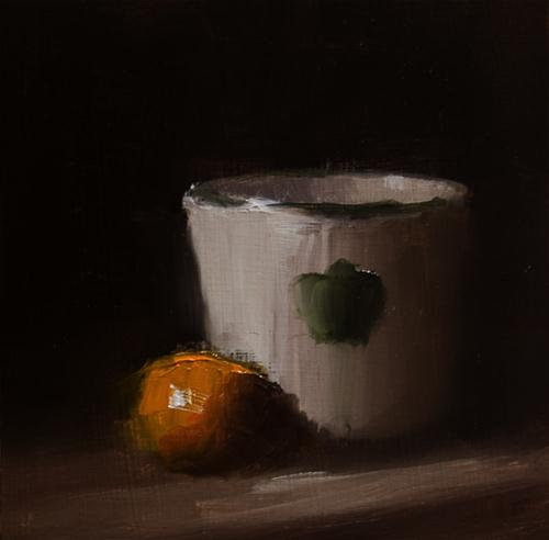 """Pot with Clementine"" original fine art by Neil Carroll"