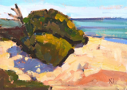 """Torrey Pines Painting"" original fine art by Kevin Inman"
