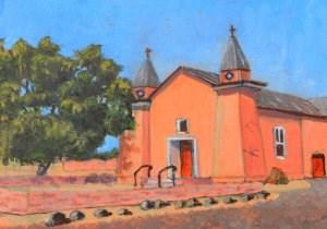 """Old Adobe Church"" original fine art by Robert Frankis"