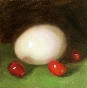 """Incredible Inedible Egg"" original fine art by Cindy Haase"