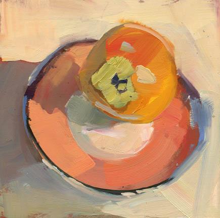 """Pink Plate #910"" original fine art by Lisa Daria"