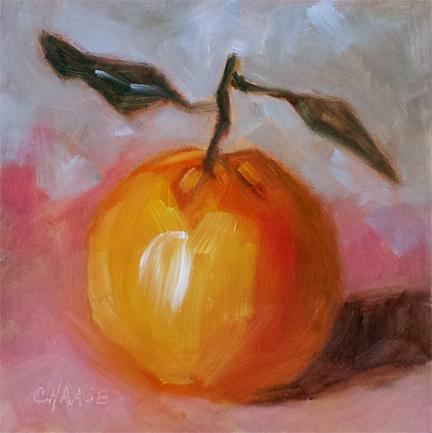 """Mandarin Orange"" original fine art by Cindy Haase"