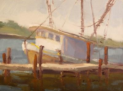 """Dockside"" original fine art by Laurel Daniel"
