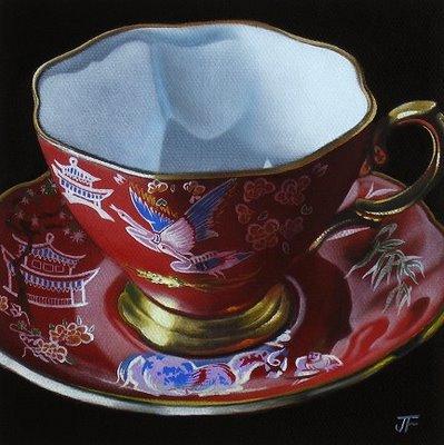 """My Mother's Teacups #1"" original fine art by Jelaine Faunce"