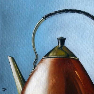 """Anne's Kettle"" original fine art by Jelaine Faunce"