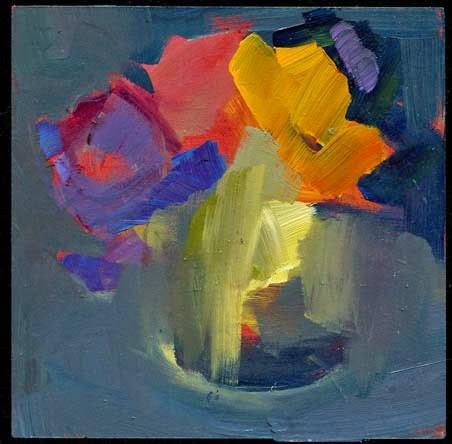 """1992 First Friday"" original fine art by Lisa Daria"