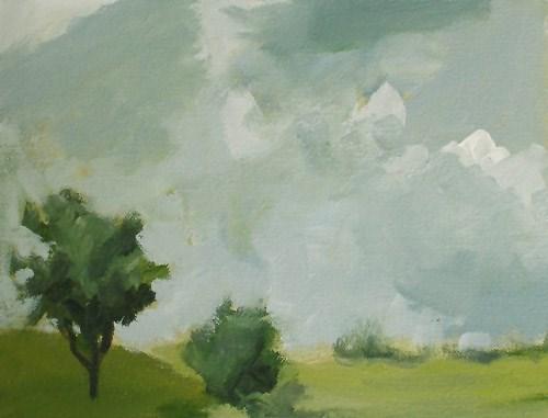 """""""Clouds over Green"""" original fine art by Pamela Munger"""