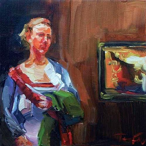 """""""Besuch beim Rembrandt"""" original fine art by Jurij Frey"""