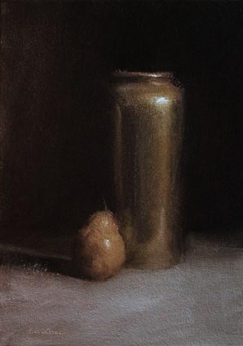 """Brass Vase"" original fine art by Neil Carroll"