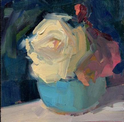 """1305 Off White"" original fine art by Lisa Daria"